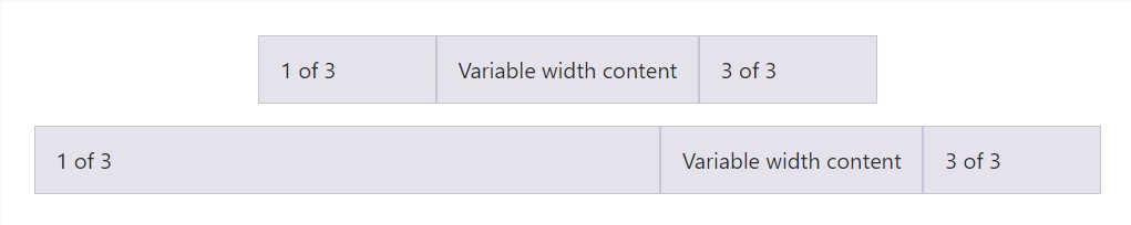 Variable width  information